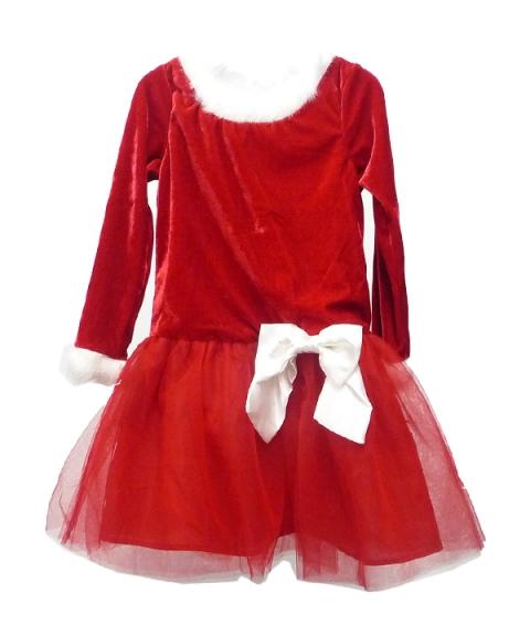 Lilybird Santa Suite Dress Girls [Red]