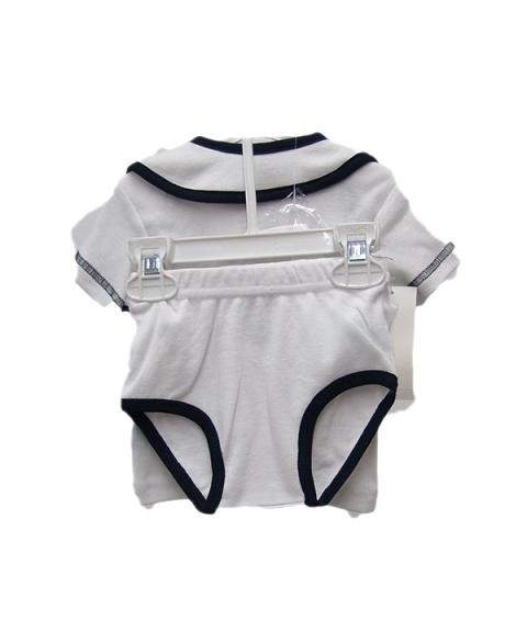 USPA Baby Boy 4 Piece Layette Set [White]