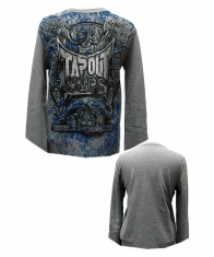 Tapout Mens Long Sleeve Shirt [Heather Gray]