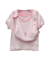 USPA Baby Girl 4 Piece Layette Set [Pink Nectar]