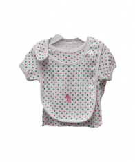 USPA Baby Girl 4 Piece Layette Set [White]